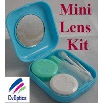 Blue Mini Contact Lenses Storage Lens Travel Kit