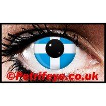 St Andrews Cross Patriotic Contact Lenses
