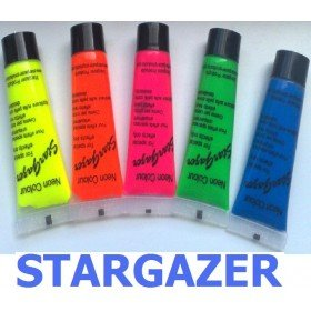 Stargazer UV Reactive Face/Body Paint Set Of Five