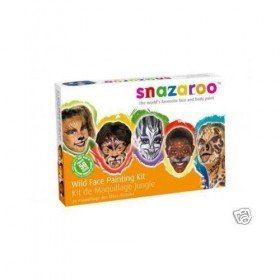 Face Paint Kit Childrens Fancy Dress Snazaroo Wild