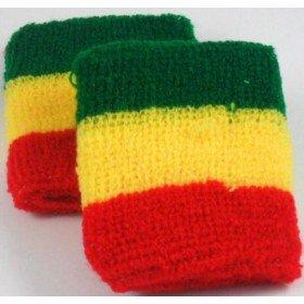 Red Yellow Green Jamaican Flag Colours Rasta Design Sweatband Armband