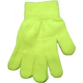 Yellow Neon Bright Florescent Magic Gloves