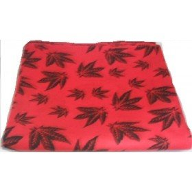 Red Cannabis Marijuana Leaf Bandana Head Scarf