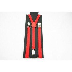 Unisex Plain Red 15mm  Fashion Braces