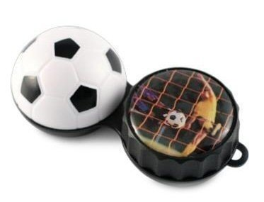Football 3D Contact Lenses Storage Soaking Case