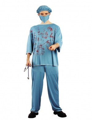 Bloody Surgeon Fancy Dress Halloween Costume