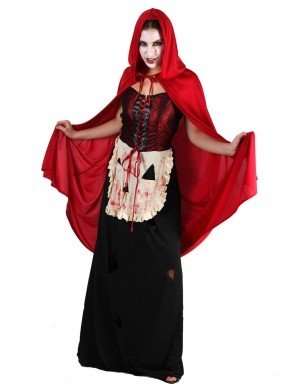 Blood Thirsty Red Riding Hood Fancy Dress Halloween Costume