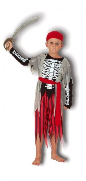 Skeleton Pirate Fancy Dress Halloween Costume