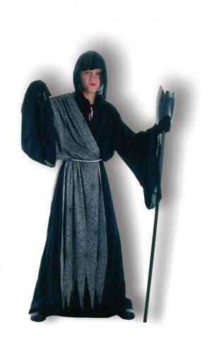 Black Toga With Drape Fancy Dress Halloween Costume