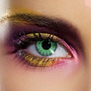 Edit's Crazy Range Solar Green Contact Lenses