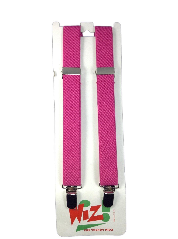 Children's Plain Dark Pink Braces By Wiz