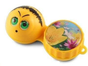 Bumble Bee 3D Contact Lenses Storage Soaking Case