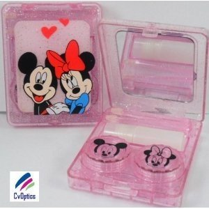 Minnie / Mickey Mouse Design Contact Lens Storage Soaking Travel Kit
