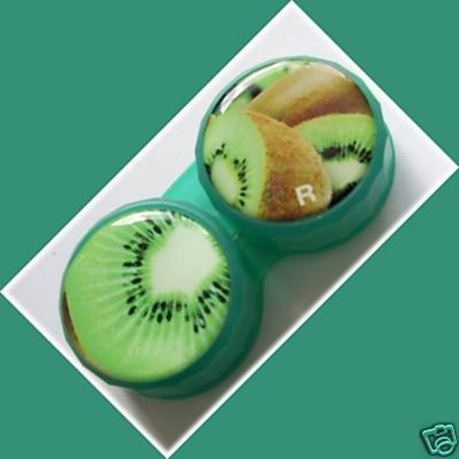 Kiwi Plum Summer Fruits Contact Lens Holder For Lenses