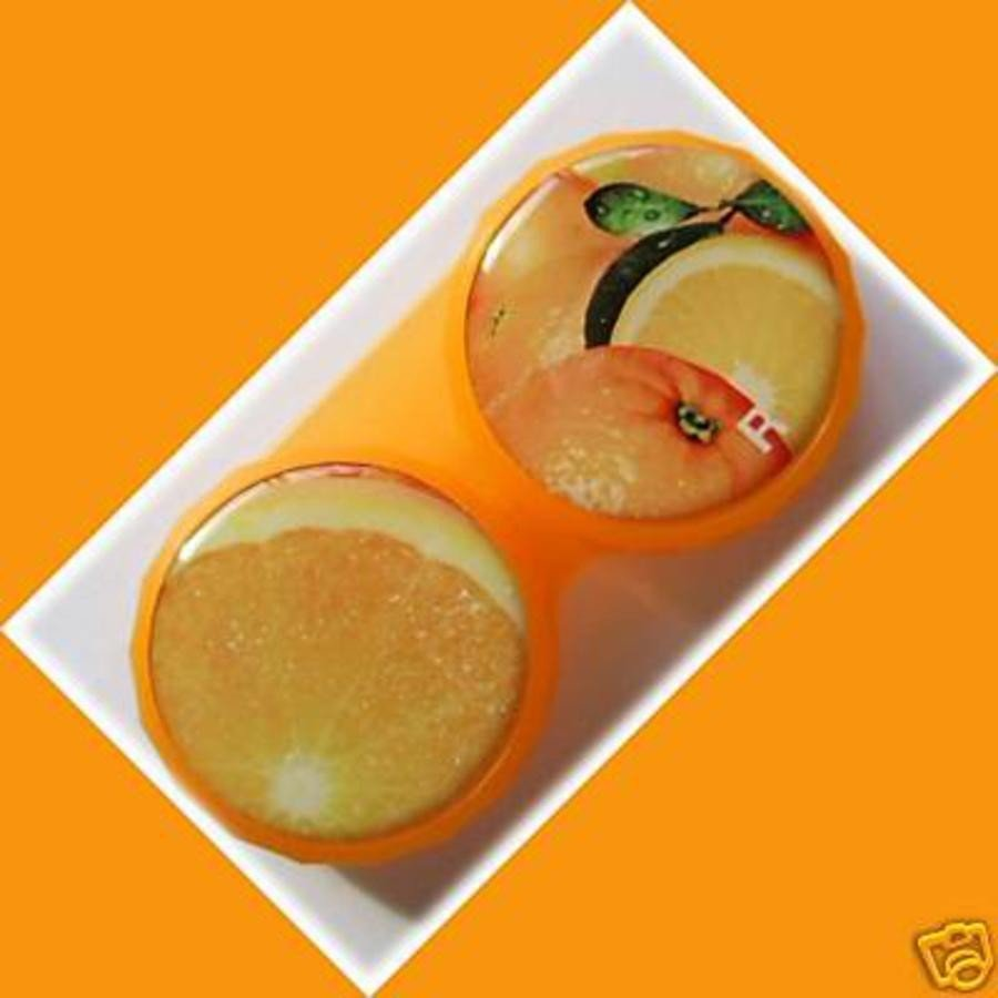 Orange Summer Fruits Contact Lens Holder For Lenses