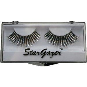 Stargazer Reusable False Eyelashes Black & Silver Hologram Foil 27
