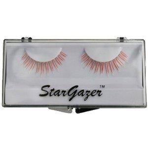 Stargazer Reusable False Eyelashes UV Reactive Red #36