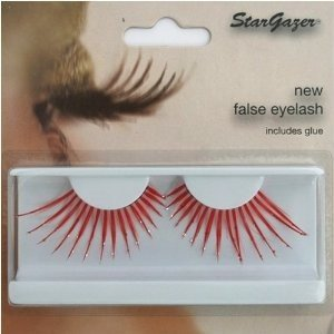 Stargazer Reusable False Eyelashes Red and Diamonte 58