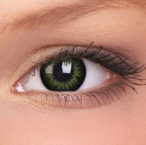 ColourVue Party Green Big Eyes Contact Lenses