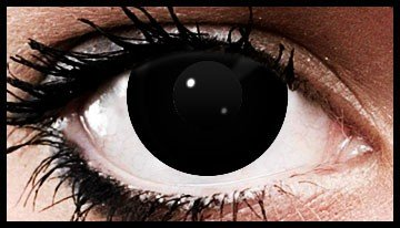90 Day Wear Black Out Black Block Halloween Contact Lenses