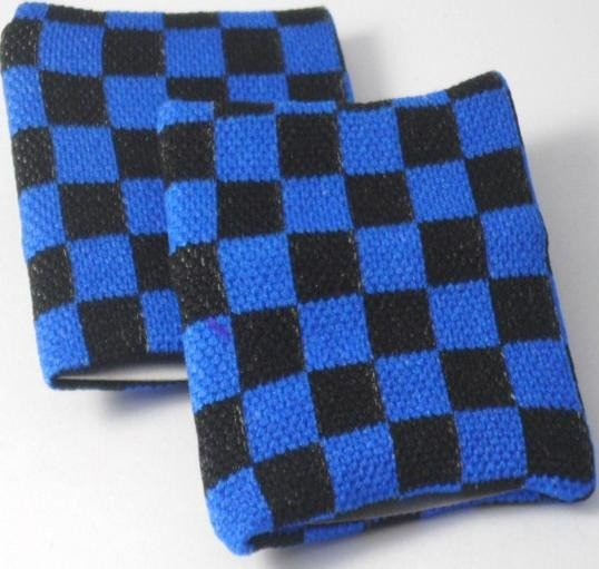 Black and Blue chequered  Board Design Sweatband Armband
