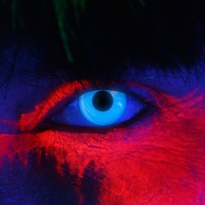 Edit's iGlow Range Blue UV Contact Lenses