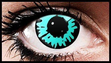 90 Day Wear Blue Wolf Eye Cosmetic Contact Lenses