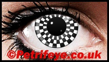 Checkers Designed Contact Lenses