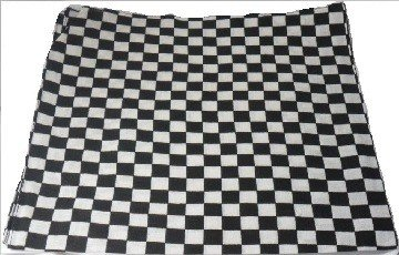 Black and White Checkered Bandana Head Neck Scarf 100% Cotton