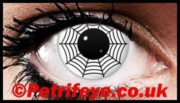 Cobweb Style Creepy Contact Lenses