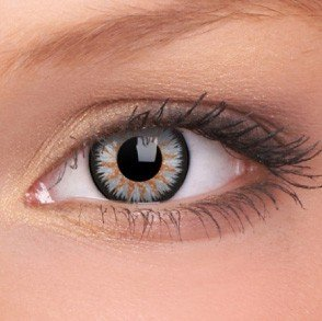 ColourVue Grey Glamour Coloured Contact Lenses
