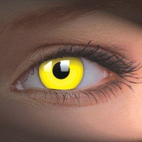 ColourVue Yellow UV Glow Crazy Contact Lenses