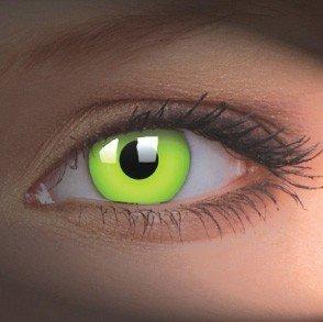 ColourVue Green UV Glow Crazy Contact Lenses