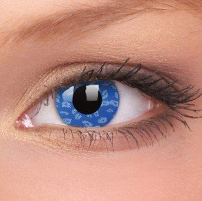 ColourVue Blue Leopard Crazy Contact Lenses