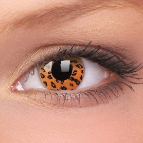 ColourVue Yellow Leopard Crazy Contact Lenses