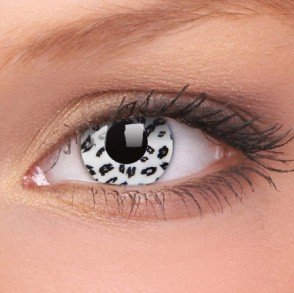 ColourVue White Leopard Crazy Contact Lenses