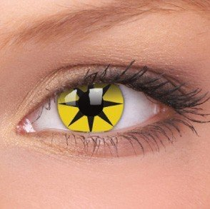 ColourVue Yellow Star Crazy Contact Lenses