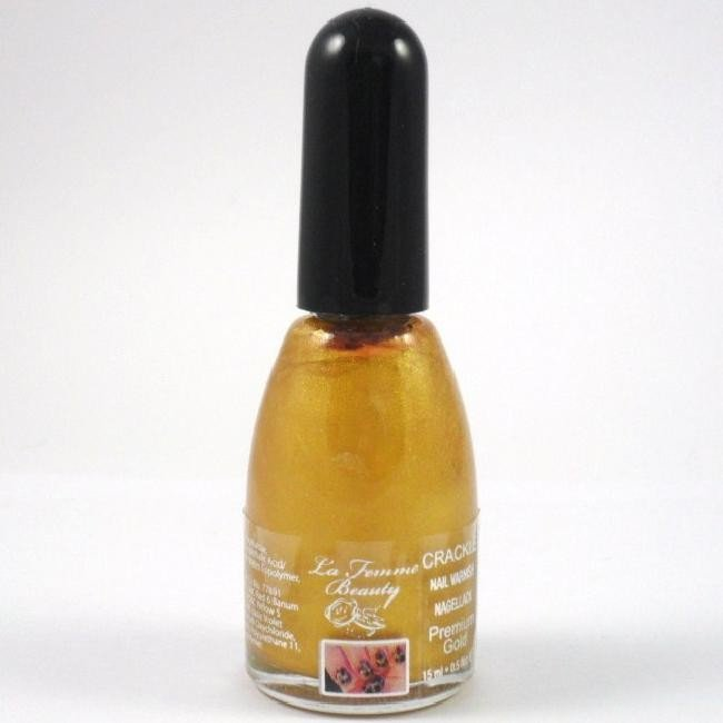 La Femme Crackle Shatter Nail Polish - Gold