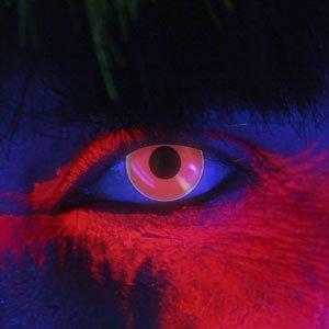 Edit's iGlow Range Dark Red Contact Lenses