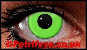 Green Neon UV Reactive Coloured Contact Lenses