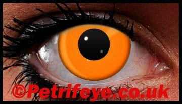 Orange Neon UV Reactive Coloured Contact Lenses