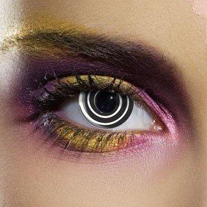 Edit's Crazy Range Black Spiral Contact Lenses