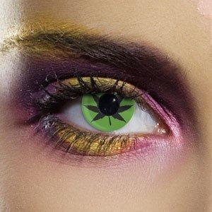 Edit's Crazy Range Green Cannabis Contact Lenses