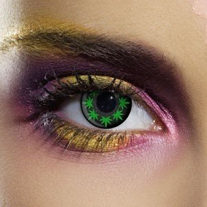 Edit's Crazy Range Multi Cannabis Contact Lenses