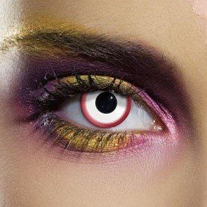 Edit's Crazy Range Saw White Contact Lenses