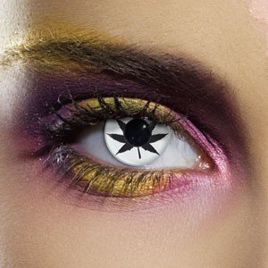 Edit's Crazy Range White Cannabis Contact Lenses
