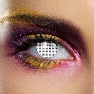 Edit's Crazy Range White Mesh Contact Lenses