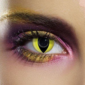Edit's Crazy Range Yellow Cat Contact Lenses