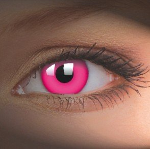 ColourVue Pink UV Glow Crazy Contact Lenses