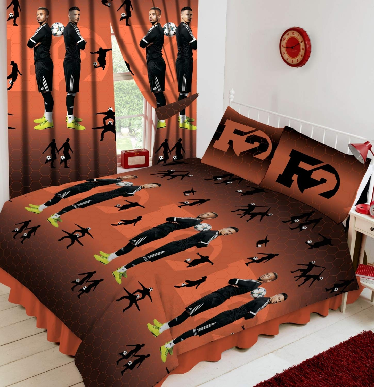 Official F2 Freestylers Football King Size Duvet Quilt Cover Set